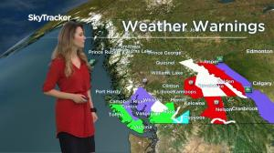 B.C. weather forecast and warnings for January 3